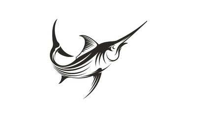 icon of swordfish for fishing design - Vector
