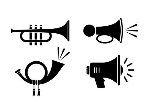 Horn sound vector icon