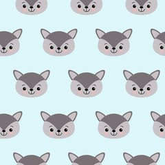 Cute kids wolf pattern for girls and boys.