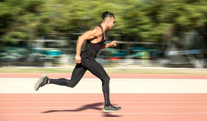 Man running fast