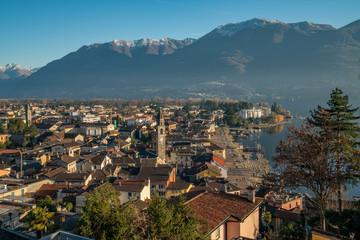 aerial view of Ascona, Switzerland