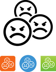 Angry Mob Icon - Illustration