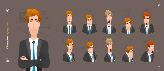 Man Character Expressions
