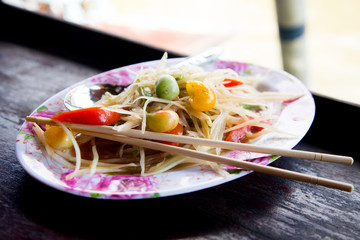 Papaya salad Bangkok street Food Culture