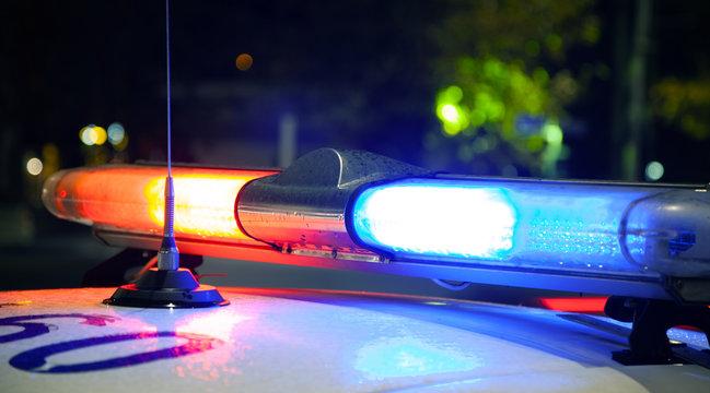 police car at night