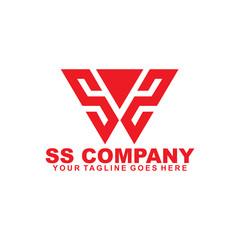 SS letter logo design vector template