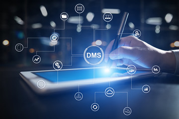 DMS Data management system structure. Document flow and information storage.