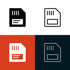 Memory Card Icon Set