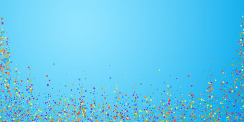 Festive confetti. Celebration stars. Rainbow brigh