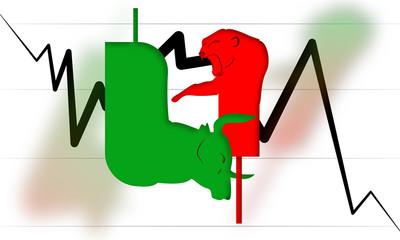 Bearish and Bullish Market Fight