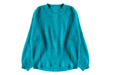 Blue sweater isolated