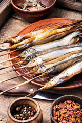 Appetizing smoked fish