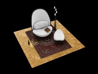 Armchair, 3D model