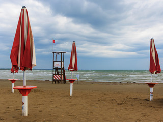 On the beach of Caorle, Italy