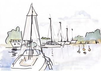 yachts at the coast