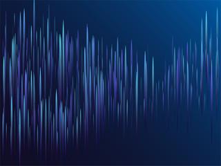 Digital blue lines streams visual optic technology