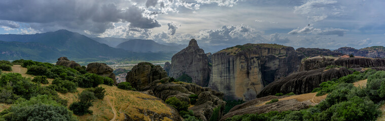Meteora Mountains (Panorama)