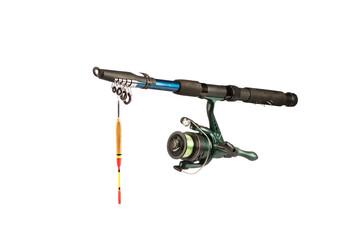 Fishing rod for fishing isolated on white background. Isolated.