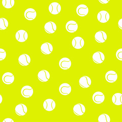 Sports seamless pattern with tennis icons