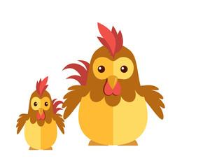 Chicken vector on a white background