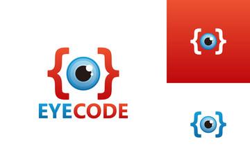 Eye Code Logo Template Design Vector, Emblem, Design Concept, Creative Symbol, Icon