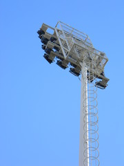 Floodlights at a stadium, Tirana, Albania