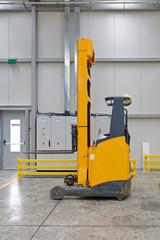 Forklift Stacker in Warehouse