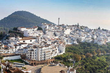 Charming white village Frigiliana, in Costa del Sol, Malaga Province, Andalusia, Spain