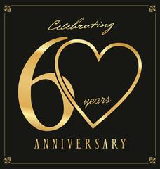 Elegant black and gold anniversary background