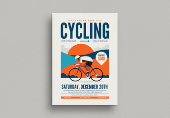 Cycling Event Flyer Layout
