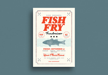 Fish Fry Fundraiser Flyer Layout