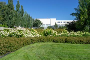 Fototapeta Landscape of a gardens in Kuopio and the architecture