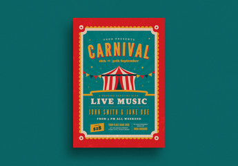 Retro Carnival Event Flyer Layout