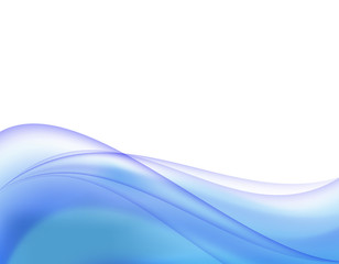 Abstract background curve line blue light and blend element with copy space