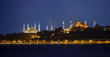 Historical peninsula of Istanbul at sunse