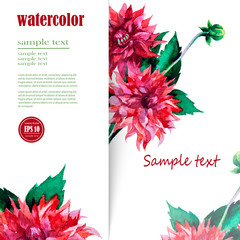 card background for text with hand painted flower