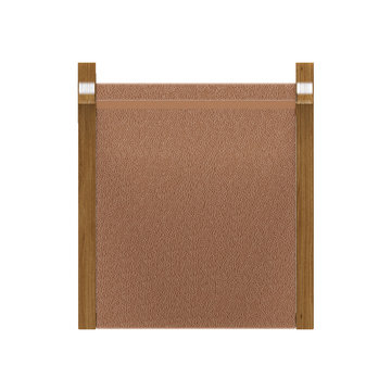 High resolution brown leather bar stool top view with wooden frame icon for plan and elevation rendering and designing