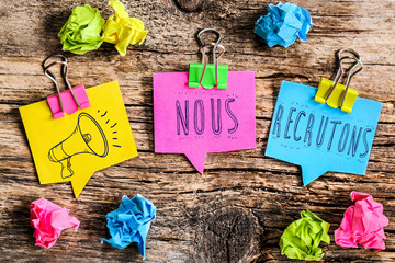 Note Post-it : nous recrutons