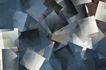Mosaik in den Farben weiß, beige und blau Fotoväggar