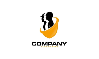Construction logo template, suitable for construction company brand, vector format and easy to edit - Vector