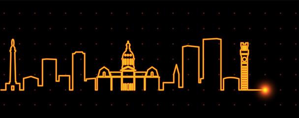 Baltimore Light Streak Skyline
