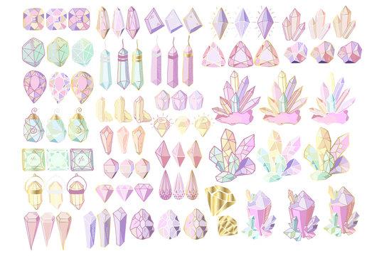 vector crystals set