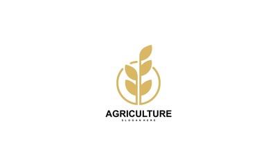 Rice Logo Design Vector - Vector,Agriculture wheat Logo Template vector icon design - Vector