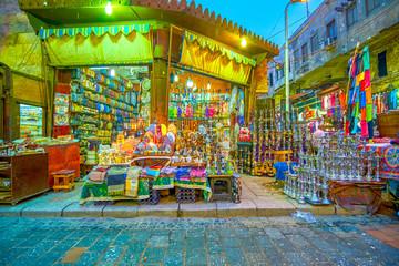 The arabic hookahs in market in Cairo, Egypt