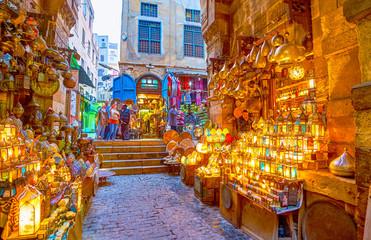 The bright arabian lamps, Cairo, Egypt