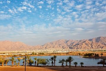 View on Jordan Aqaba city from Eilat