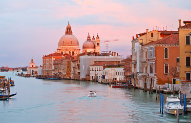 Wall Mural - Grand canal at sunset, Venice