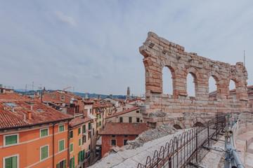 City of Verona, viewed from top of the Verona Arena, in Verona, Italy
