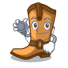 Doctor cowboy boots in the shape cartoon