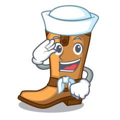 Sailor cowboy boots in the shape cartoon
